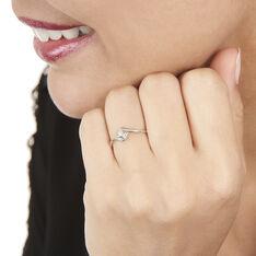 Bague Angelica Or Blanc Diamant - Bagues Solitaire Femme | Marc Orian