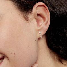 Créoles Jacoba Rondes Or Jaune Oxyde De Zirconium - Boucles d'oreilles Créoles Femme | Marc Orian