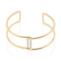 Bracelet Jonc Erna Plaque Or Jaune Oxyde De Zirconium - Bracelets jonc Femme | Marc Orian