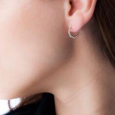 Créoles Rosaura Fil Bombe Or Tricolore - Boucles d'oreilles Créoles Femme | Marc Orian