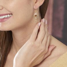 Boucles D'oreilles Pendantes Lona Argent Jaune Ambre - Boucles d'oreilles Pendantes Femme | Marc Orian