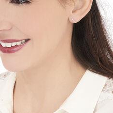 Boucles D'oreilles Or Blanc Puce Oxyde - Clous d'oreilles Femme | Marc Orian
