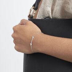 Bracelet Shaneze Argent Blanc - Bracelets chaînes Femme | Marc Orian