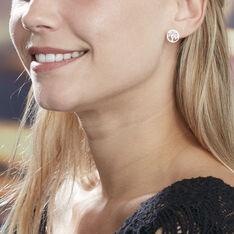 Boucles D'oreilles Puces Arbre De Vie Argent Blanc - Clous d'oreilles Femme | Marc Orian