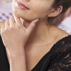 Boucles D'oreilles Puces Astre Argent Blanc - Clous d'oreilles Femme   Marc Orian