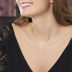 Collier Coeur Gravable Or Rose - Colliers Femme   Marc Orian