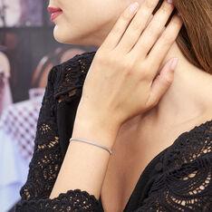Bracelet Christine Maille Serpent Argent Blanc Oxyde De Zirconium - Bracelets fantaisie Femme | Marc Orian