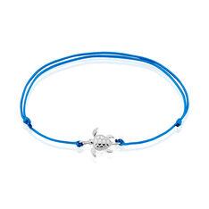 Bracelet Argent Rhodie Zenaide Tortue Sur Cordon - Bracelets cordons Femme | Marc Orian