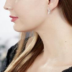 Bijoux D'oreilles Haylee Argent Blanc Oxyde De Zirconium - Boucles d'oreilles Ear cuffs Femme | Marc Orian