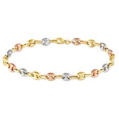 Bracelet Dami Maille Grain De Cafe Or Tricolore - Bracelets mailles Homme | Marc Orian