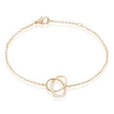 Bracelet Henia Plaque Or Jaune Oxyde De Zirconium - Bracelets chaînes Femme | Marc Orian