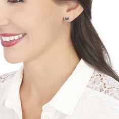 Boucles D'oreilles Pendantes Mallaurie Argent Rose Oxyde De Zirconium - Boucles d'oreilles Pendantes Femme | Marc Orian