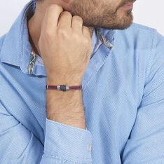 Bracelet Agarae Acier Blanc - Bracelets cordons Homme | Marc Orian