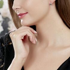 Boucles D'oreilles Puces Dalia Or Rose Topaze Et Oxyde De Zirconium - Clous d'oreilles Femme | Marc Orian