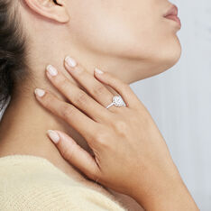 Bague Lucetta Or Blanc Oxyde De Zirconium - Bagues Femme | Marc Orian
