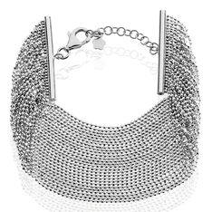 Bracelet Manhattan Argent Blanc - Bracelets chaînes Femme | Marc Orian