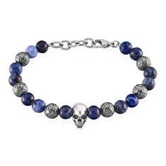 Bracelet Judd Acier Blanc Sodalite - Bracelets chaînes Homme | Marc Orian