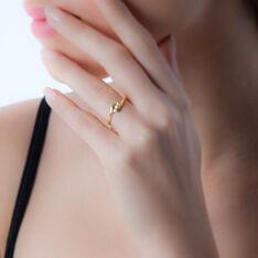 Bague Trilogie Or Jaune Diamant - Bagues fiançailles Femme   Marc Orian