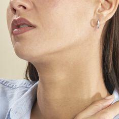 Créoles Anne-sixtine Argent Blanc Oxyde De Zirconium - Boucles d'oreilles Créoles Femme   Marc Orian