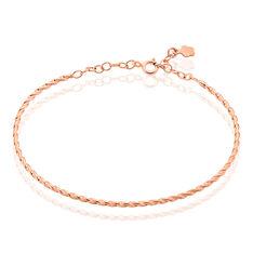 Bracelet Jonc Twist Argent Rose - Bracelets fantaisie Femme | Marc Orian