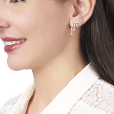 Bijoux D'oreilles Salera Argent Blanc Oxyde De Zirconium - Boucles d'oreilles Ear cuffs Femme | Marc Orian