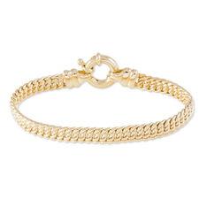 Bracelet Violette Maille Americaine Plaque Or Jaune - Bracelets mailles Femme   Marc Orian