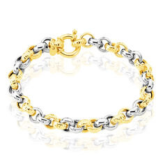 Bracelet Jodie Maille Jaseron Or Bicolore - Bracelets mailles Femme | Marc Orian