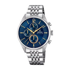 Montre Festina Timeless Chronograph Bleu - Montres classiques Homme | Marc Orian