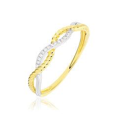 Bague Christie Vague Or Jaune Diamant - Bagues Femme   Marc Orian
