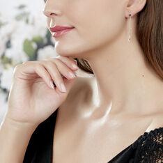 Boucles D'oreilles Pendantes Feuilles Triples Or Jaune - Boucles d'oreilles Pendantes Femme | Marc Orian