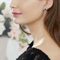 Boucles D'oreilles Puces Maeva Or Rose Topaze Et Oxyde De Zirconium - Clous d'oreilles Femme | Marc Orian