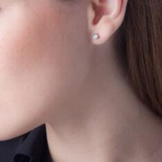 Boucles D'oreilles Puces Petrine Argent Blanc Oxyde De Zirconium - Clous d'oreilles Femme | Marc Orian