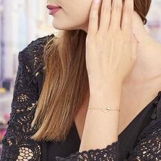 Bracelet Plaque Or Maille Forcat Cœurs - Bracelets chaînes Femme | Marc Orian