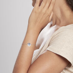 Bracelet Hoelenn Argent Blanc - Bracelets chaînes Femme | Marc Orian