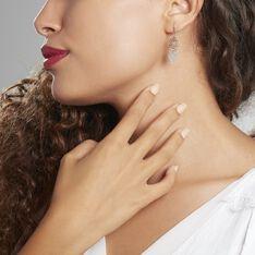 Boucles D'oreilles Pendantes Catchy Argent Blanc - Boucles d'oreilles Pendantes Femme | Marc Orian
