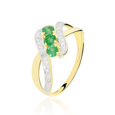 Bague Simma Or Jaune Diamant Et Emeraude - Bagues Femme | Marc Orian