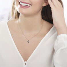 Collier Or Rose Anne-marie Diamant - Colliers Femme | Marc Orian
