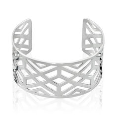 Bracelet Manchette Vlera Acier Blanc - Bracelets manchettes Femme | Marc Orian