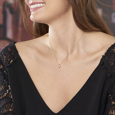 Collier Coeur Serti Clos Or Jaune Oxyde De Zirconium - Colliers Femme | Marc Orian