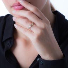 Bague Or Tricolore Solitaire Diamant - Bagues Solitaire Femme   Marc Orian