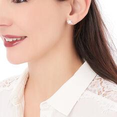 Boucles D'oreilles Puces Eloisa Argent Blanc - Clous d'oreilles Femme   Marc Orian