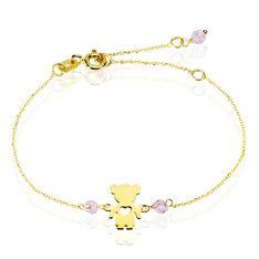 Bracelet Petite Fille Or Jaune Oxyde De Zirconium - Bracelets chaînes Enfant | Marc Orian