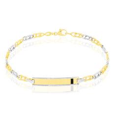 Bracelet Identité Fanelia Maille Marine Or Bicolore - Gourmettes Enfant | Marc Orian