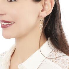 Boucles D'oreilles Pendantes Indi Plaque Or Jaune - Boucles d'oreilles Pendantes Femme   Marc Orian