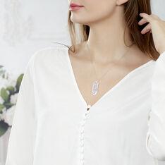 Collier Britany Argent Blanc Oxyde De Zirconium - Colliers Femme | Marc Orian
