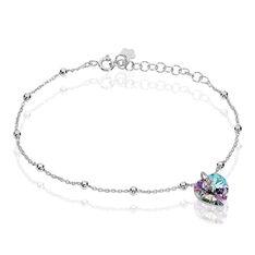 Bracelet Isin Argent Blanc Pierre De Synthese - Bracelets chaînes Femme | Marc Orian