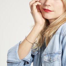 Bracelet Jonc Gina Argent Blanc - Bracelets cordons Femme | Marc Orian