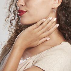 Boucles D'oreilles Pendantes Arbre De Vie Argent Rose - Boucles d'oreilles Pendantes Femme   Marc Orian