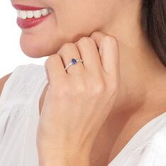 Bague Solitaire Michaela Or Blanc Saphir Et Diamant - Bagues Solitaire Femme | Marc Orian