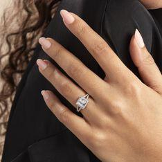 Bague Solitaire Wilona Argent Blanc Oxyde De Zirconium - Bagues Solitaire Femme   Marc Orian
